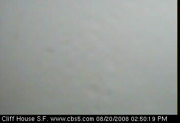 No, I didn't just paste in a white image. This is a view from a webcam near Ocean Beach.