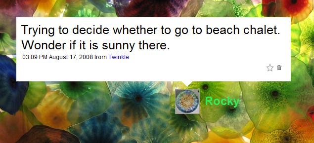 Wonder if it is sunny there. My question posed on Twitter.