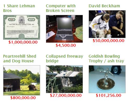 Screenshot from BuyMyShitPile.com