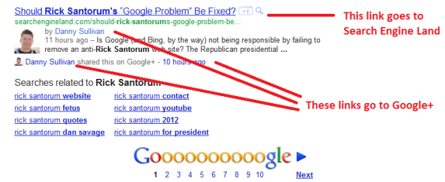 Google+ gets preferential treatment in search results