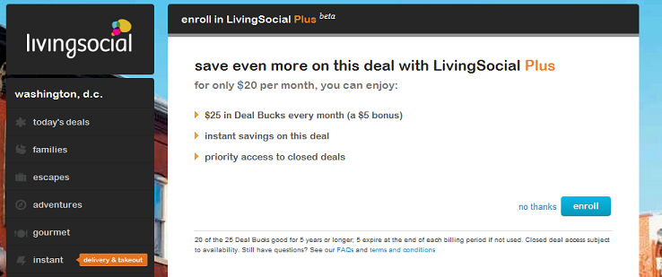 LivingSocial Plus, a new subscription service