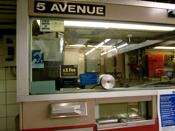 Subway token booth